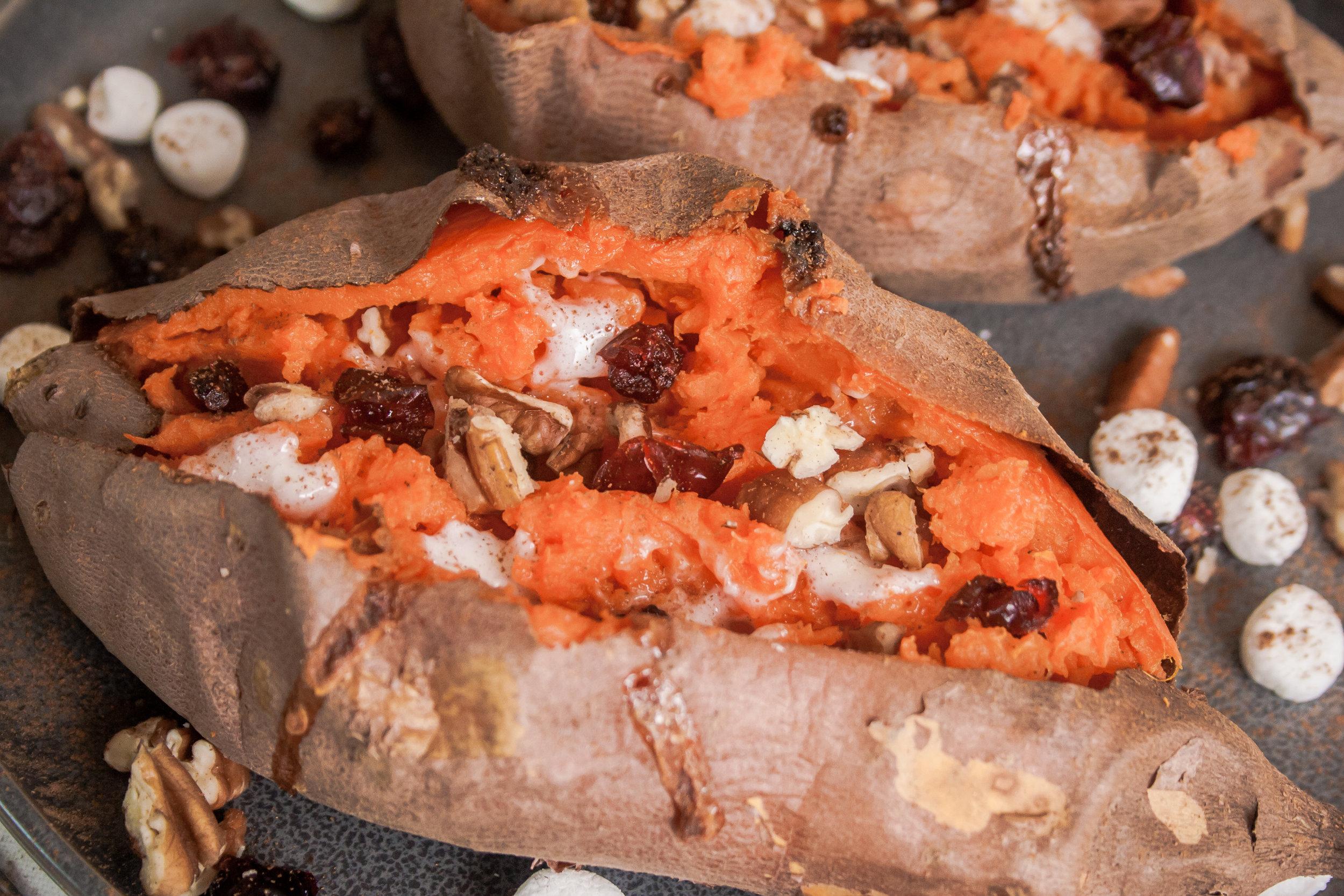 Loaded Baked Sweet Potato