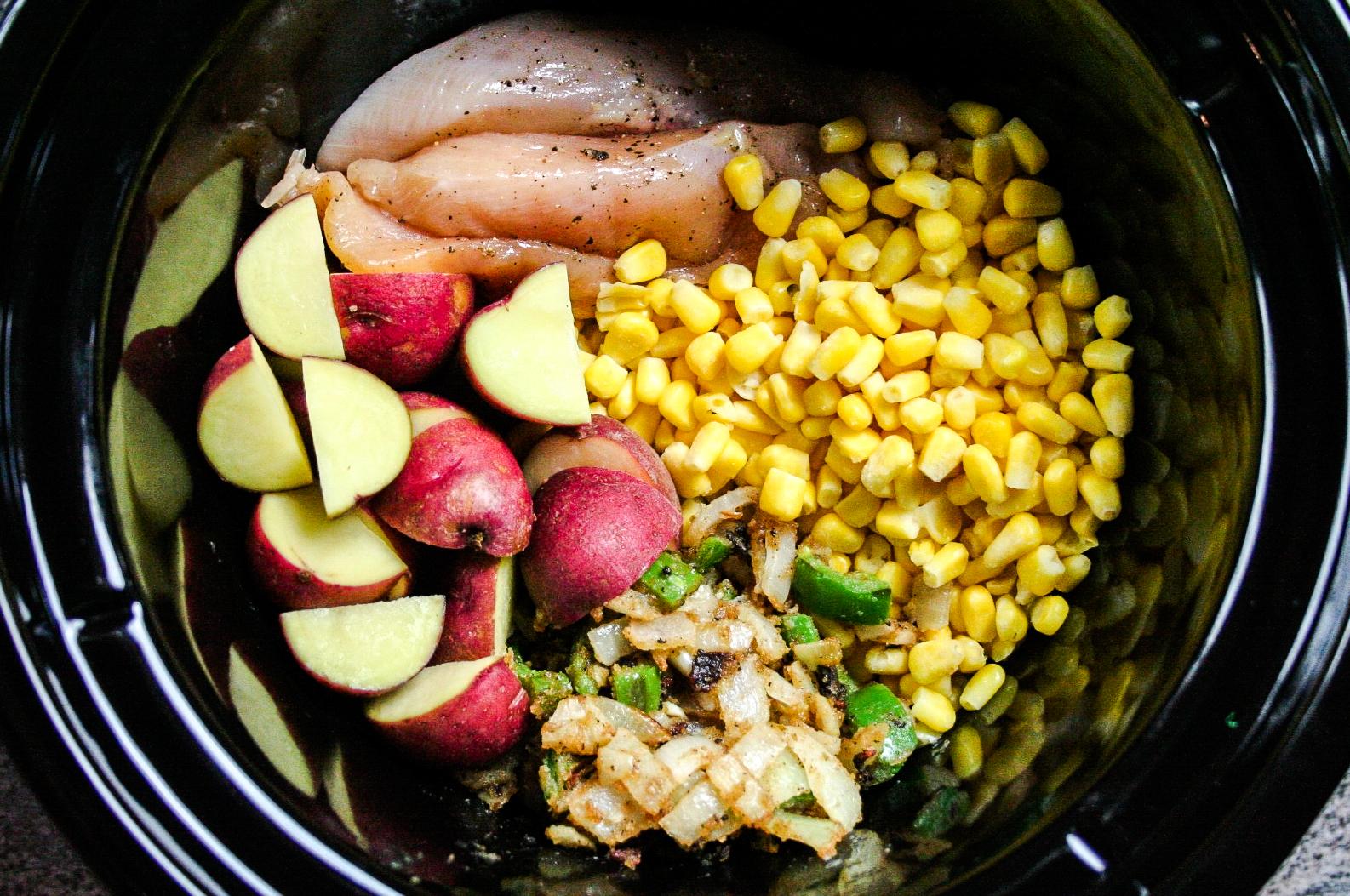 Slow Cooker Spicy Chicken Corn Chowder