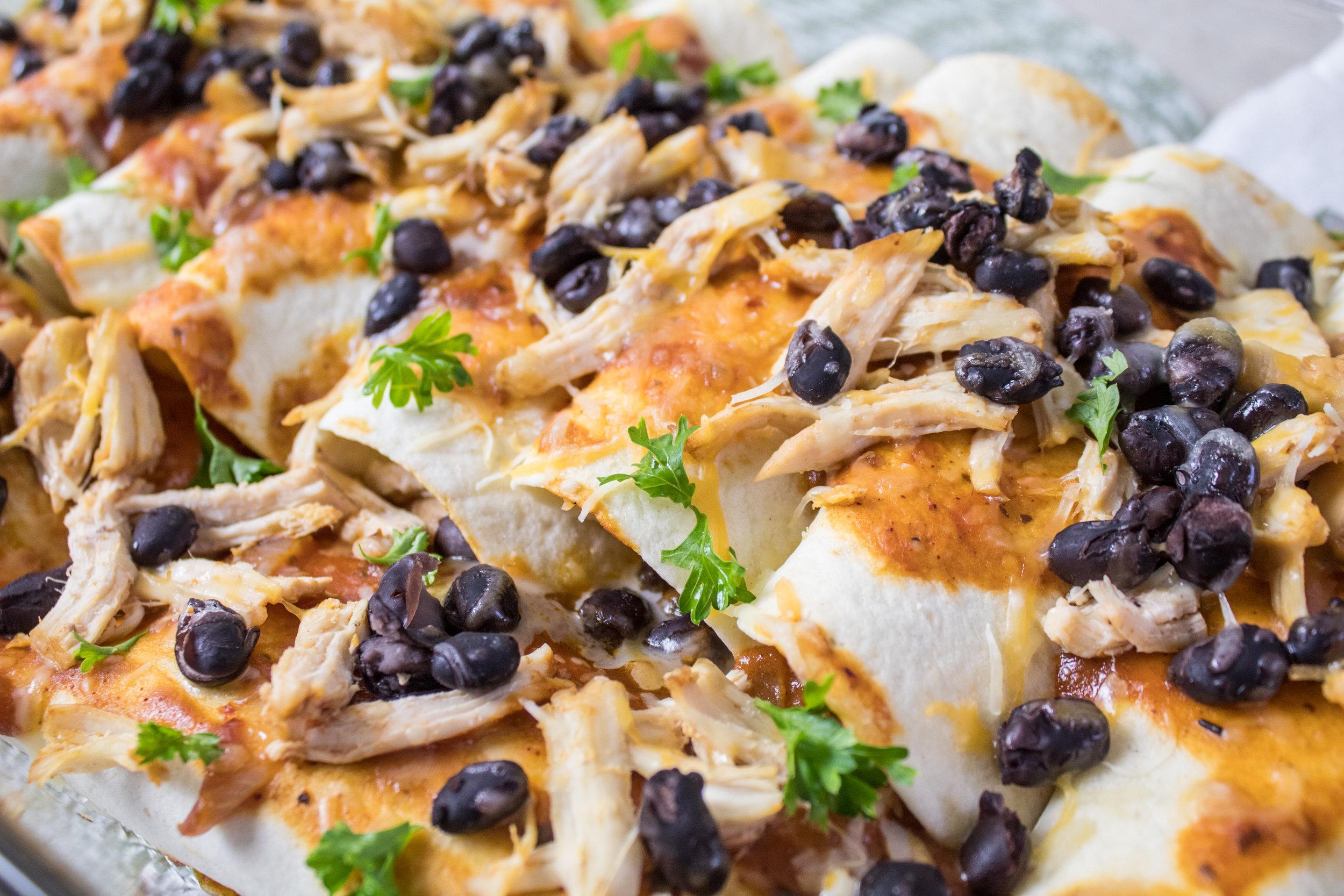 Mini Chicken and Black Bean Enchiladas
