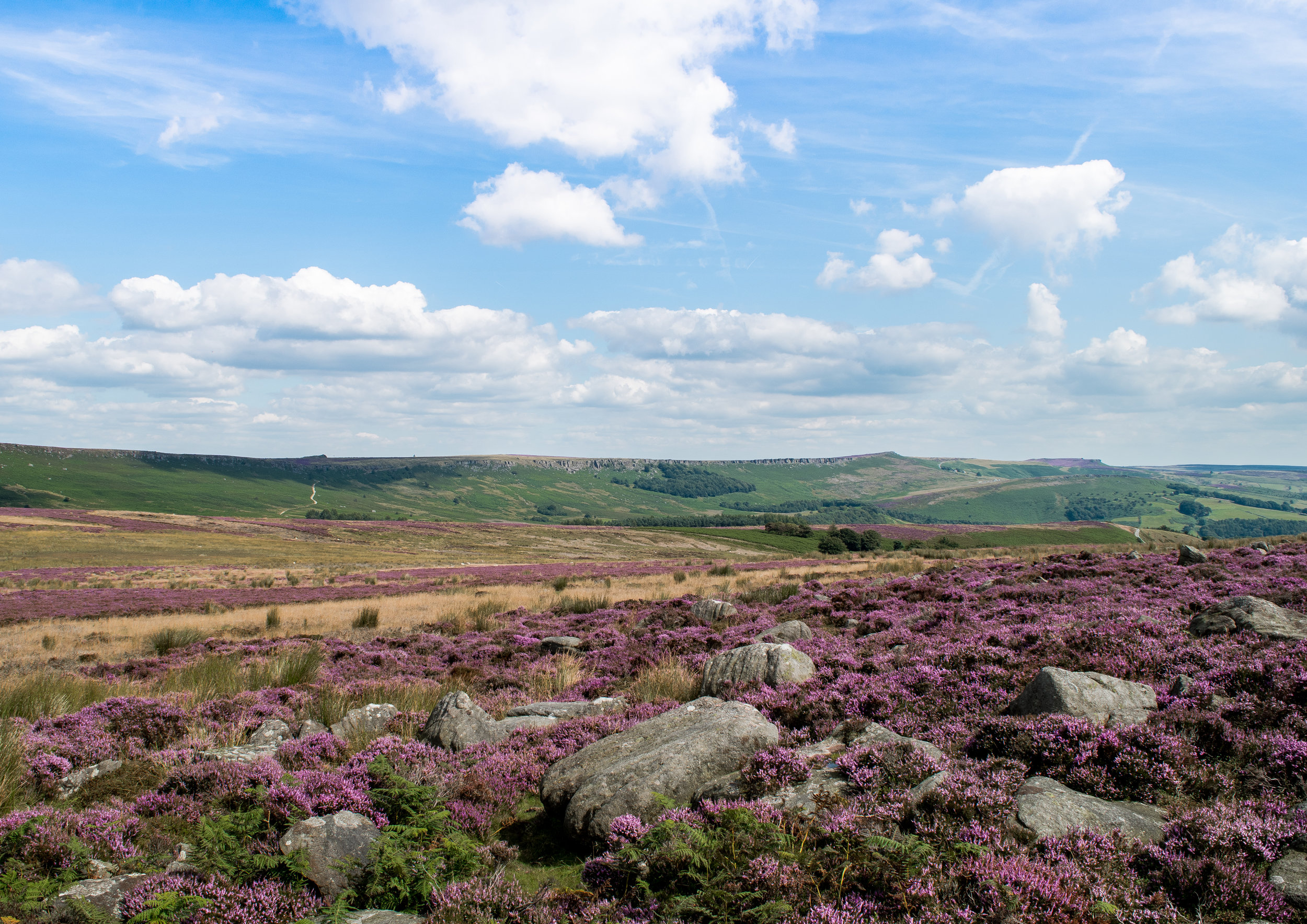 LOOKING AT STANAGE EDGE FROM BAMFORD EDGE