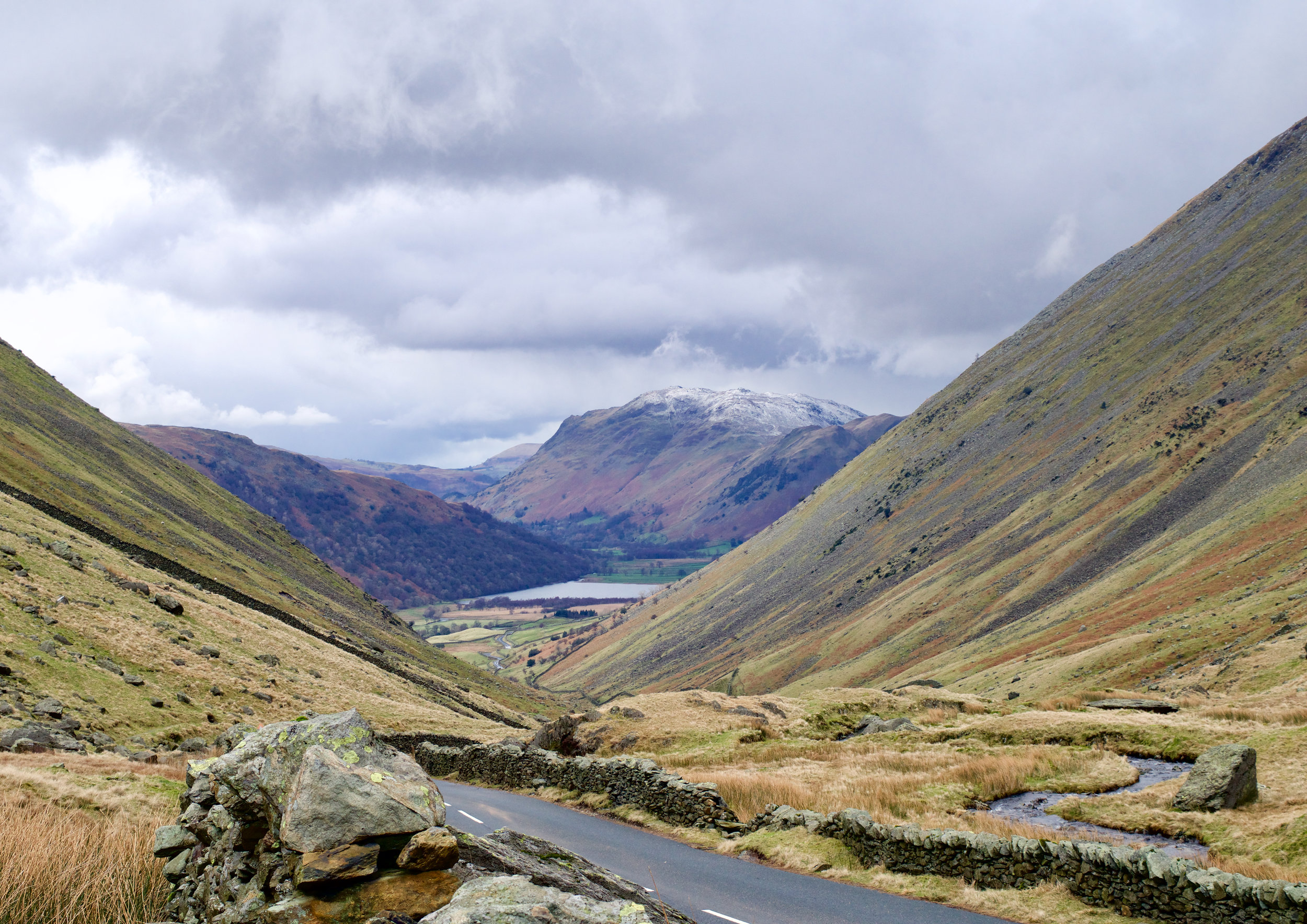 LOOKING DOWN OVER KIRKSTONE PASS