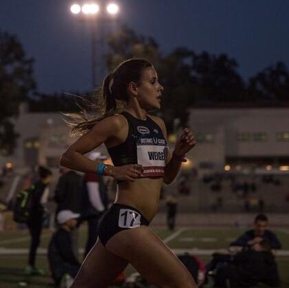 Maya Weigel - 2017 NCAA DIII 5k ChampionPersonal Record in the road mile of 4:33Personal Record in the 1500 of 4:22Personal Record in the 5K of 15:51