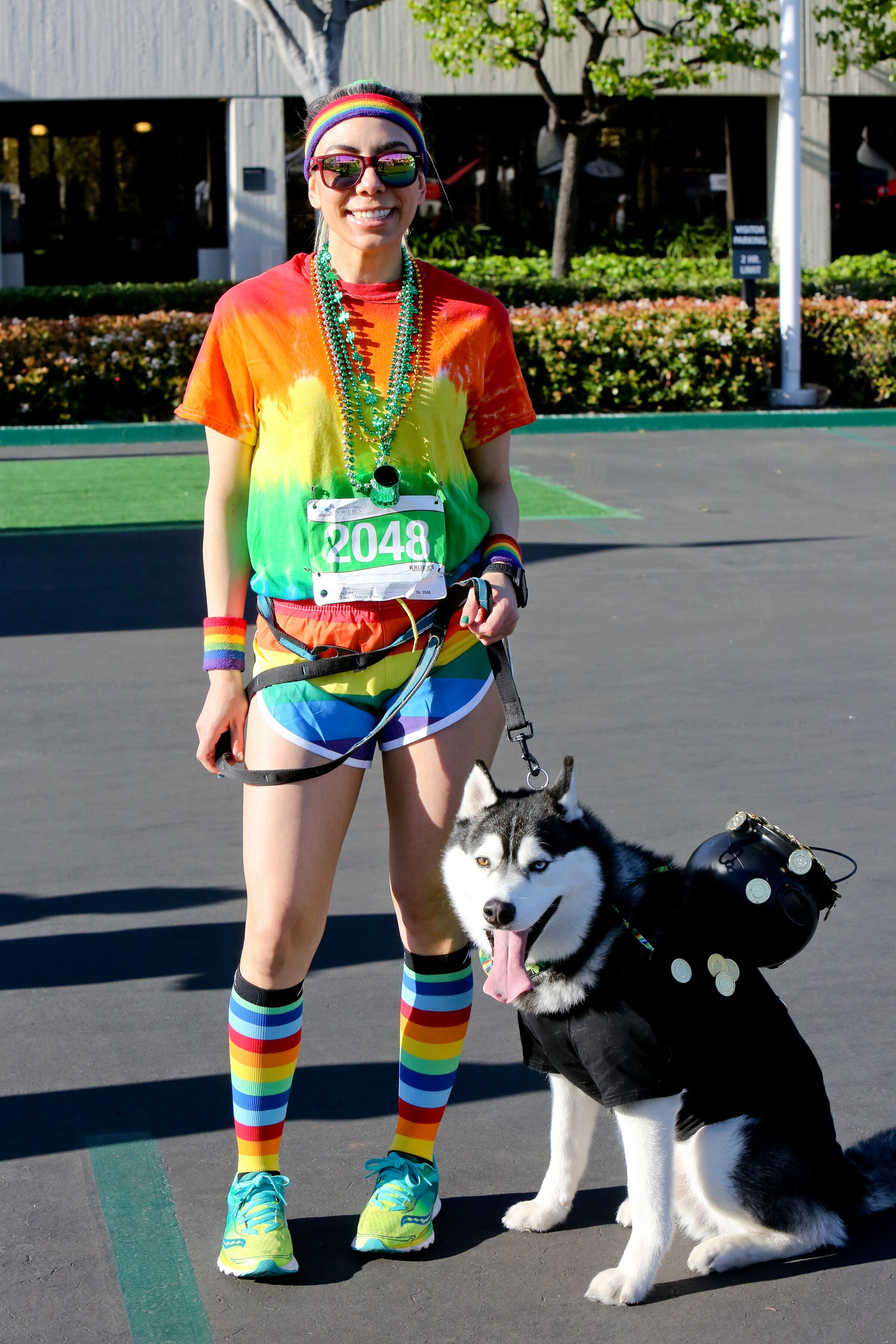 rainbow runner w dog in costume 2.jpeg