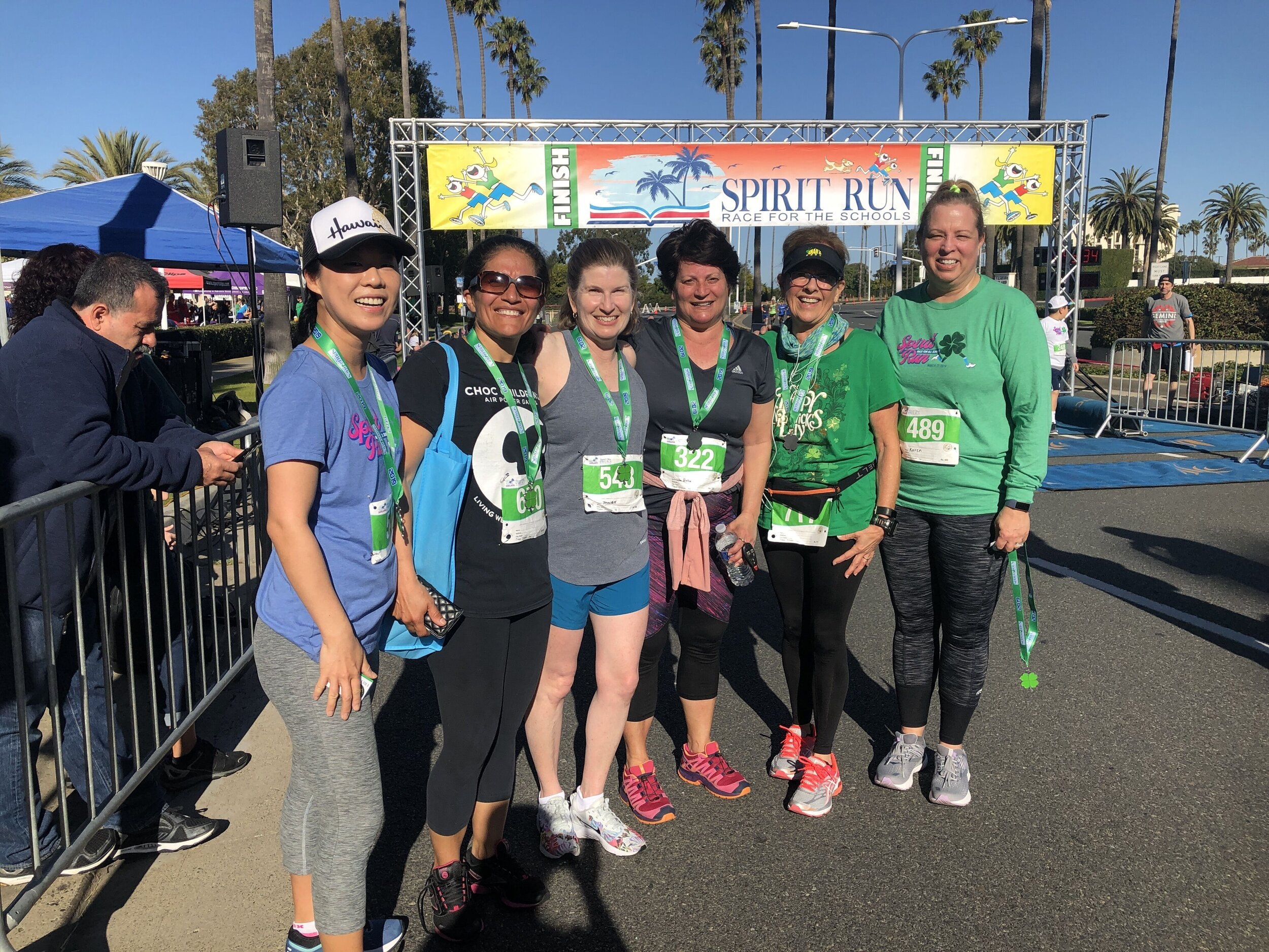 "Couch to 5k Conquerors! - Pictured here are several 2019 ""Couch to 5k"" participants. They left their couches in January and successfully completed Spirit Run's 5k in March. They became new friends and had fun!"