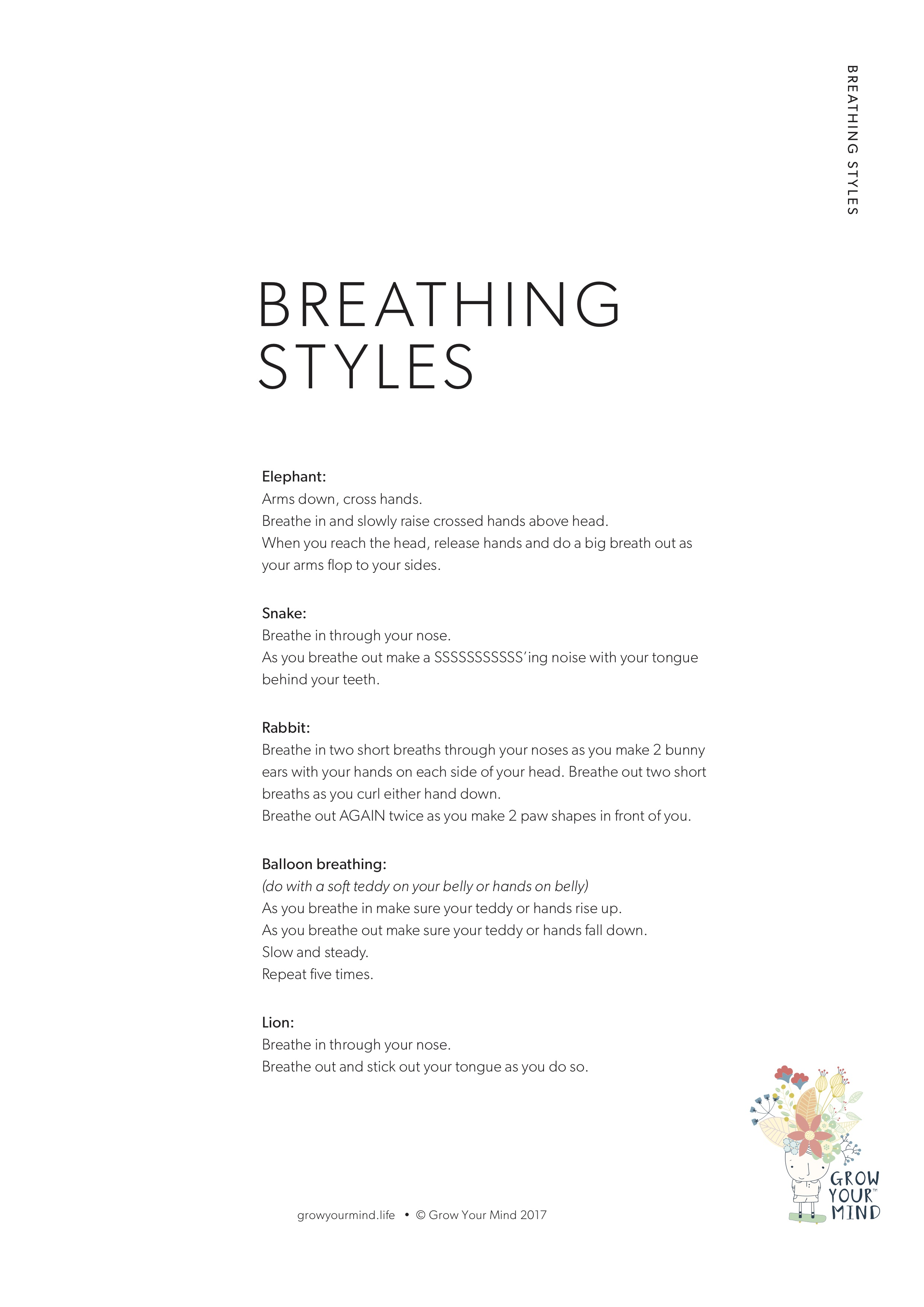 Breathing Styles - A teaching resource for everyoneTheme: Mindfulness and Emotional RegulationTo go with: Introductory lessons or use in isolation