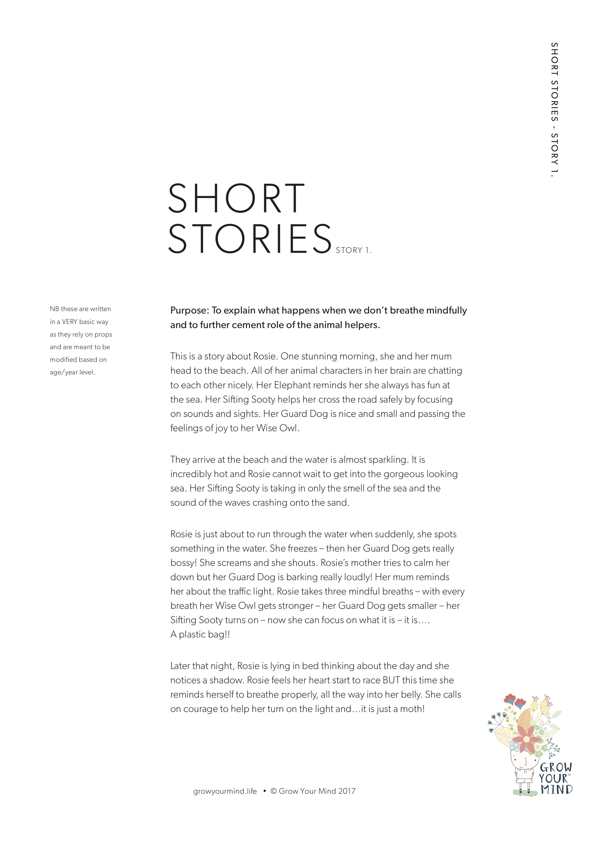 Short Stories - A teaching resource for K-2Theme: Brain awareness, Mindfulness and Emotional RegulationTo go with: Introductory lessons or use in isolation