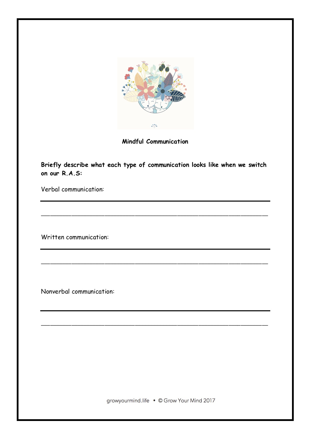 Mindful waysto communicate - For: Year 3-6Theme: communicationTo go with: Lessons on communication