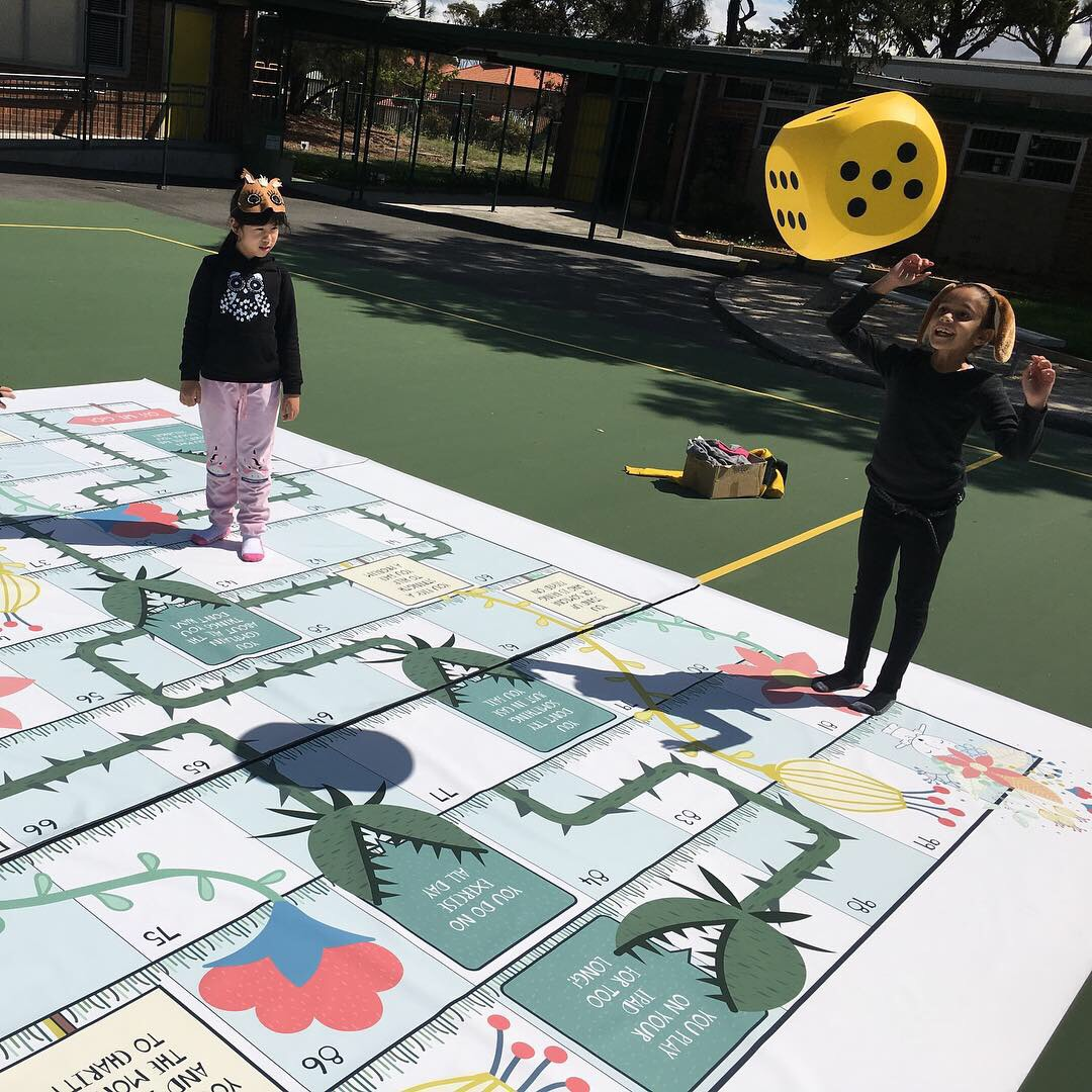 The GIANT version of our Weeds and Flowers game