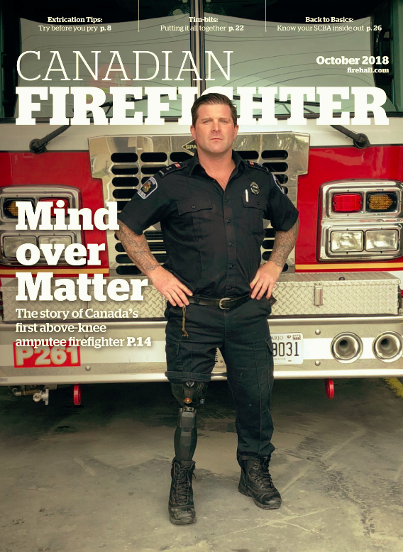 October 2018 Issue of Canadian Firefighter - with an in-depth article on Steam by Lance Bushie on pg. 23