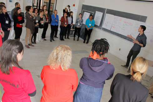 Applied theatre is... - Applied Theatre is what happens when a group of people working in community use the techniques of drama and theatre to address an issue of social concern. (tdf.org)Often participatory, AT is practiced outside the traditional theater in community centers, prisons, classrooms, and site specific locations (like street corners or farms!).