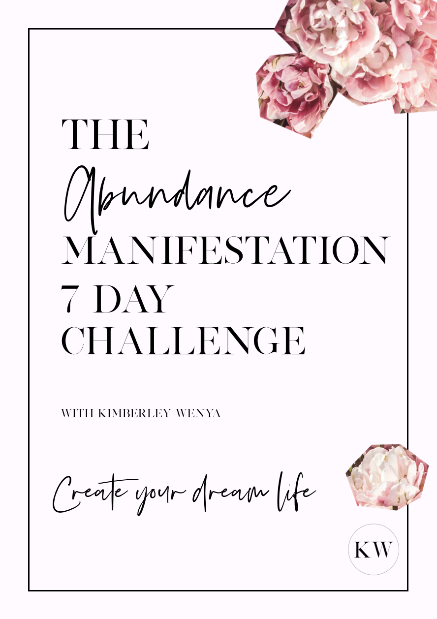 The challenge to create your DREAM life. - You'll be sent this beautiful workbook with simple daily exercises PLUS daily audio to your inbox giving you the downlow on manifestation + law of attraction so you can listen on-the-go.