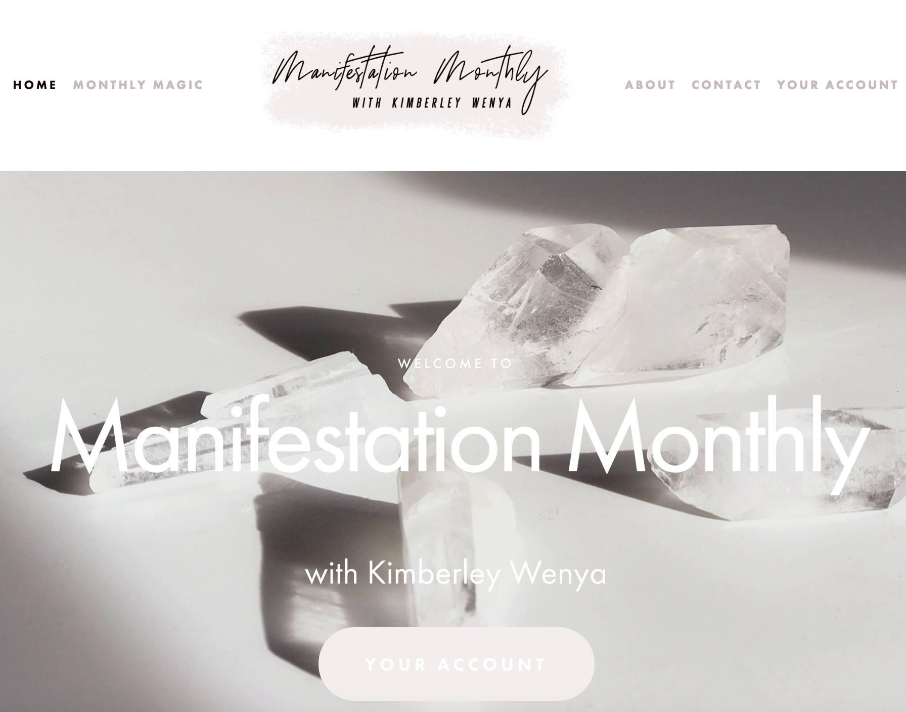 Manifestation Monthly Kimberley Wenya