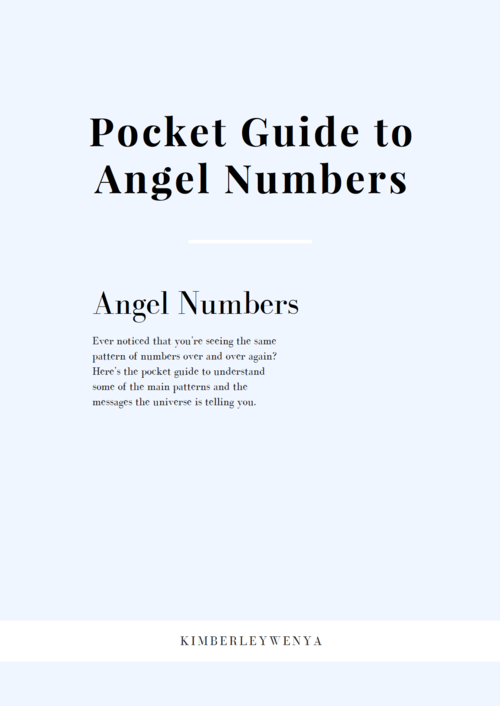 Sign up above to access the Free Pocket Guide to Angel Numbers! -