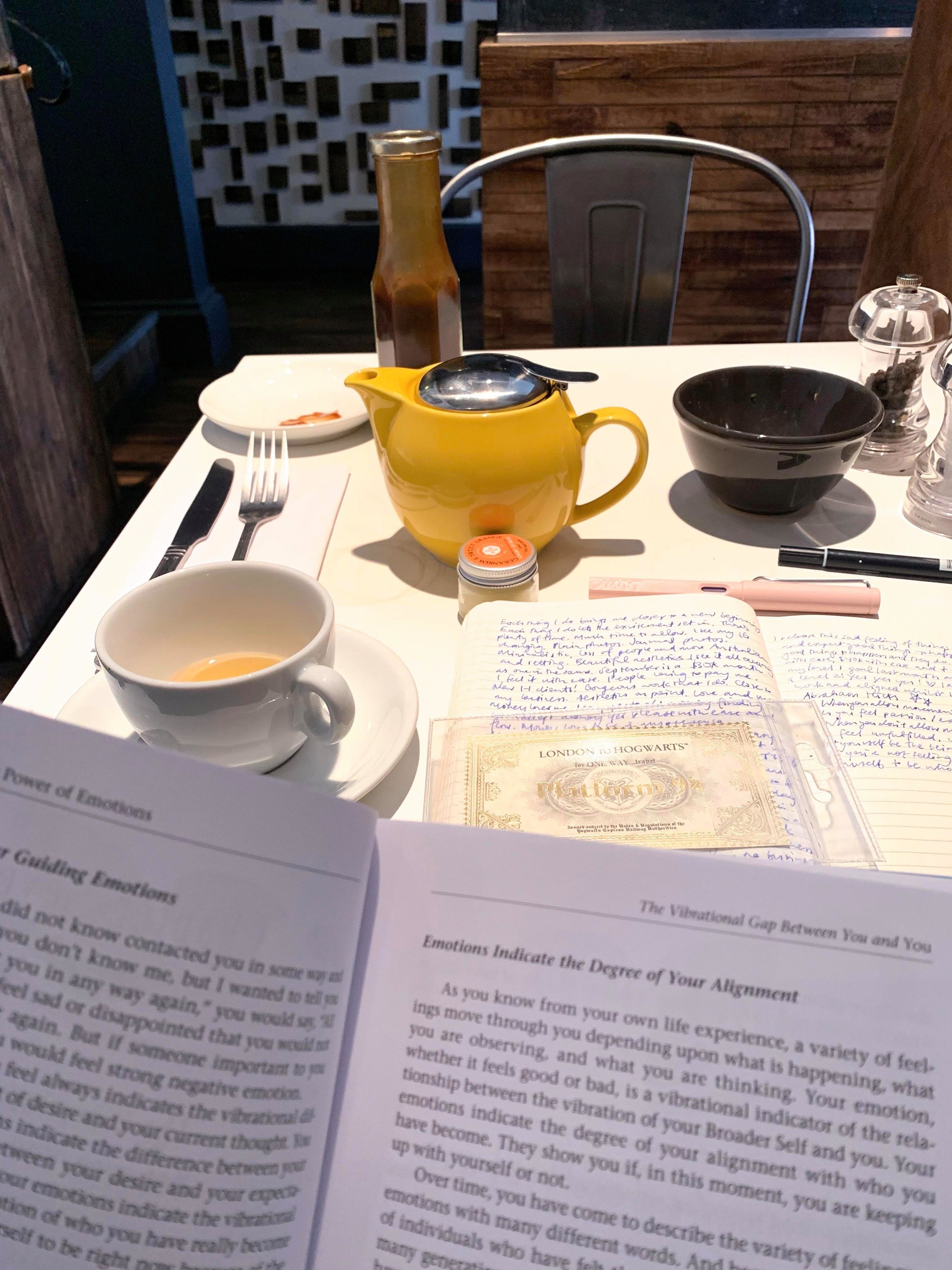 we do well hustling away at a favourite cafe with a pot of tea. -