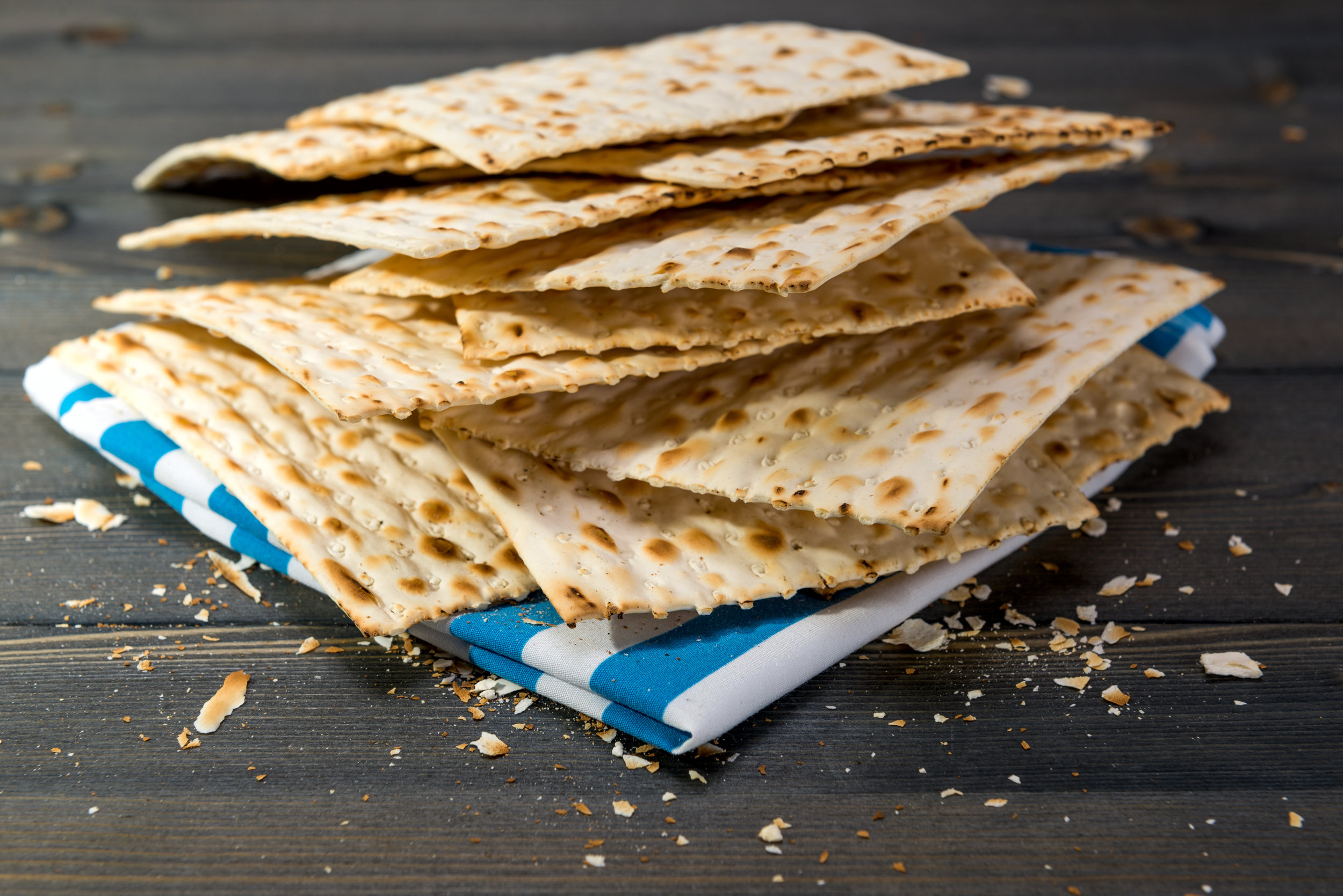 The matza, or unleavened bread