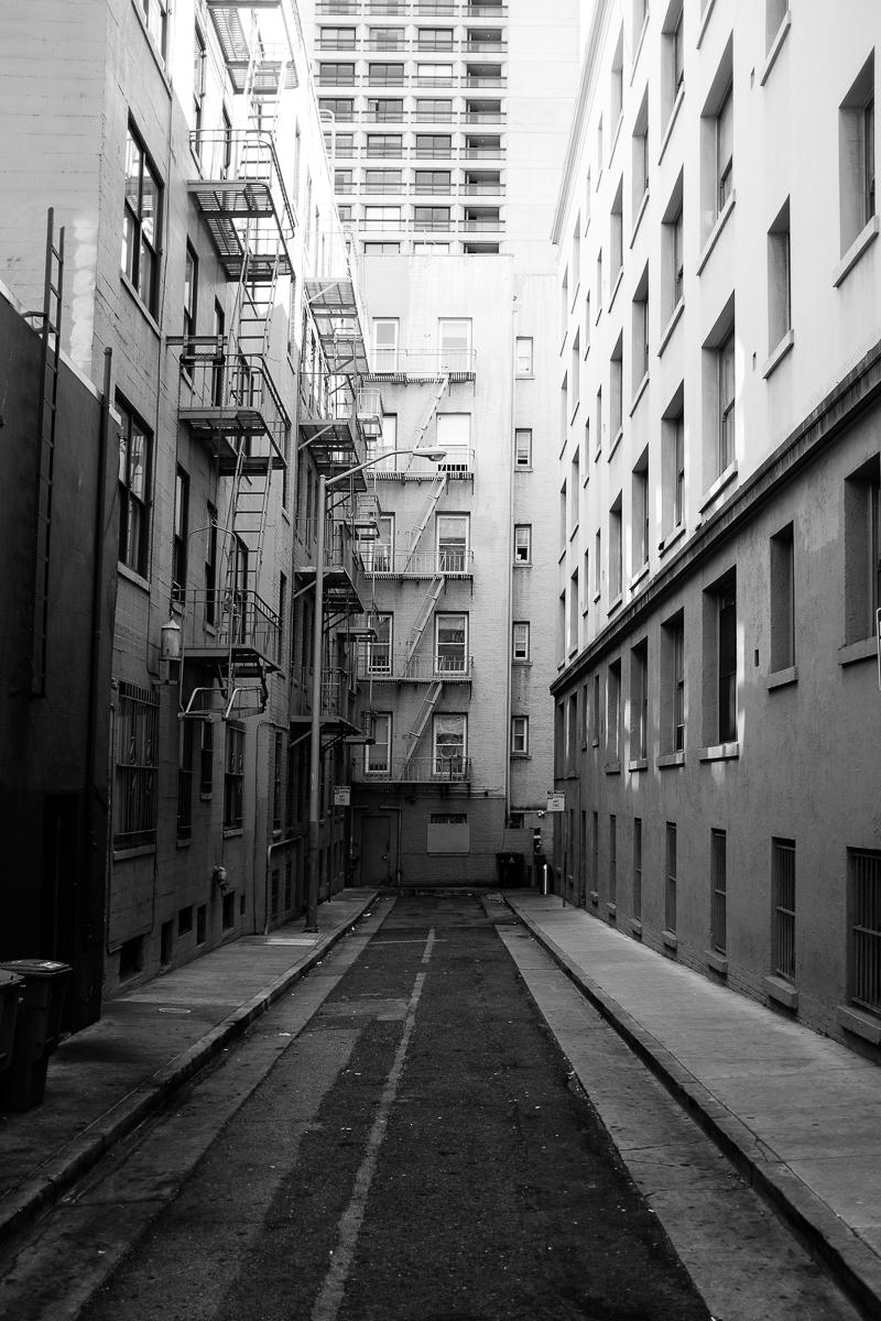 Empty Alleyway in Shadow