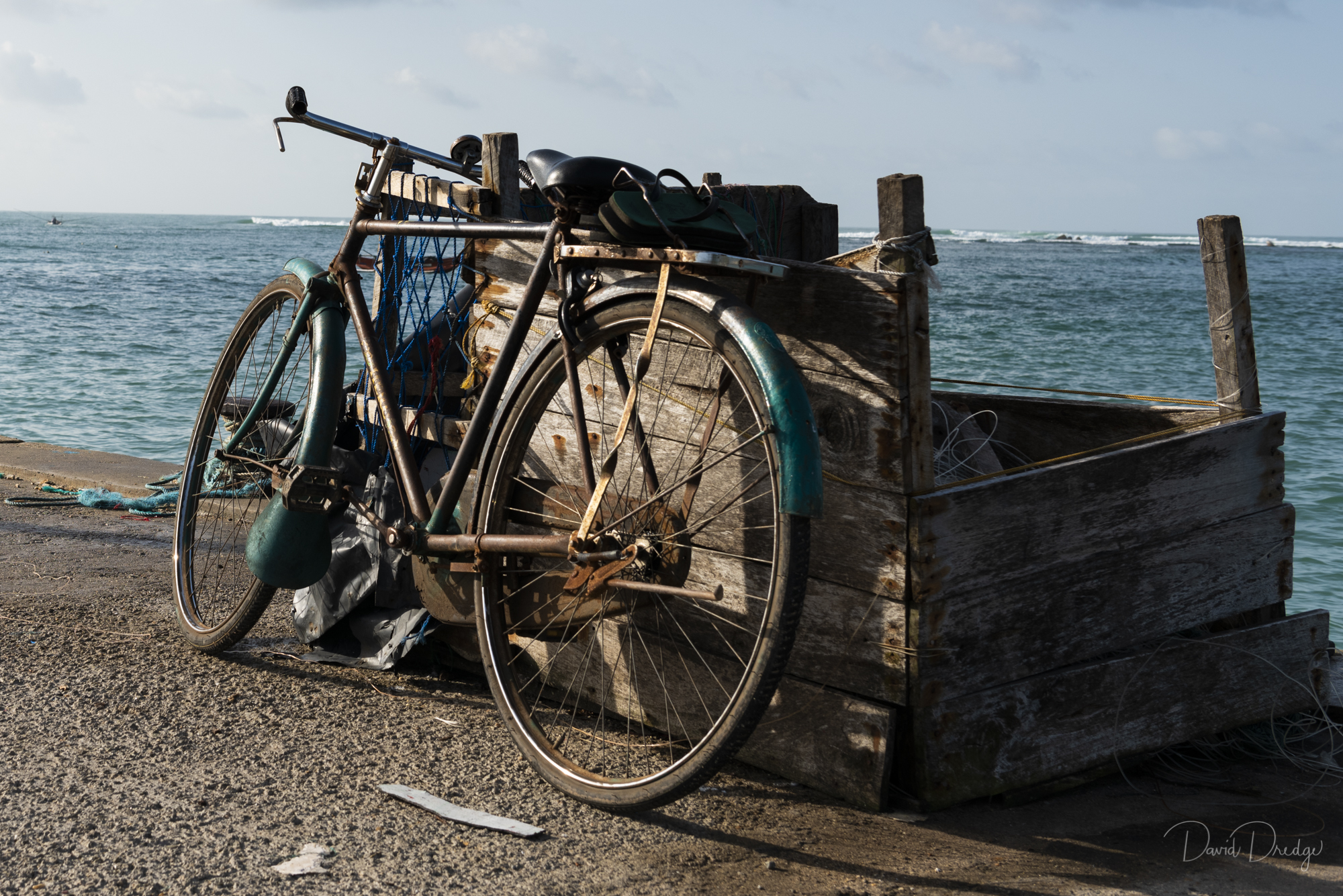 Bicycle on a wharf