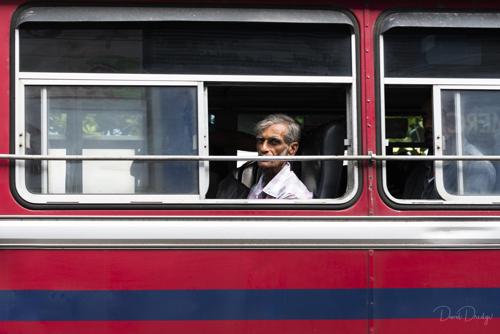 Man on a bus Galle
