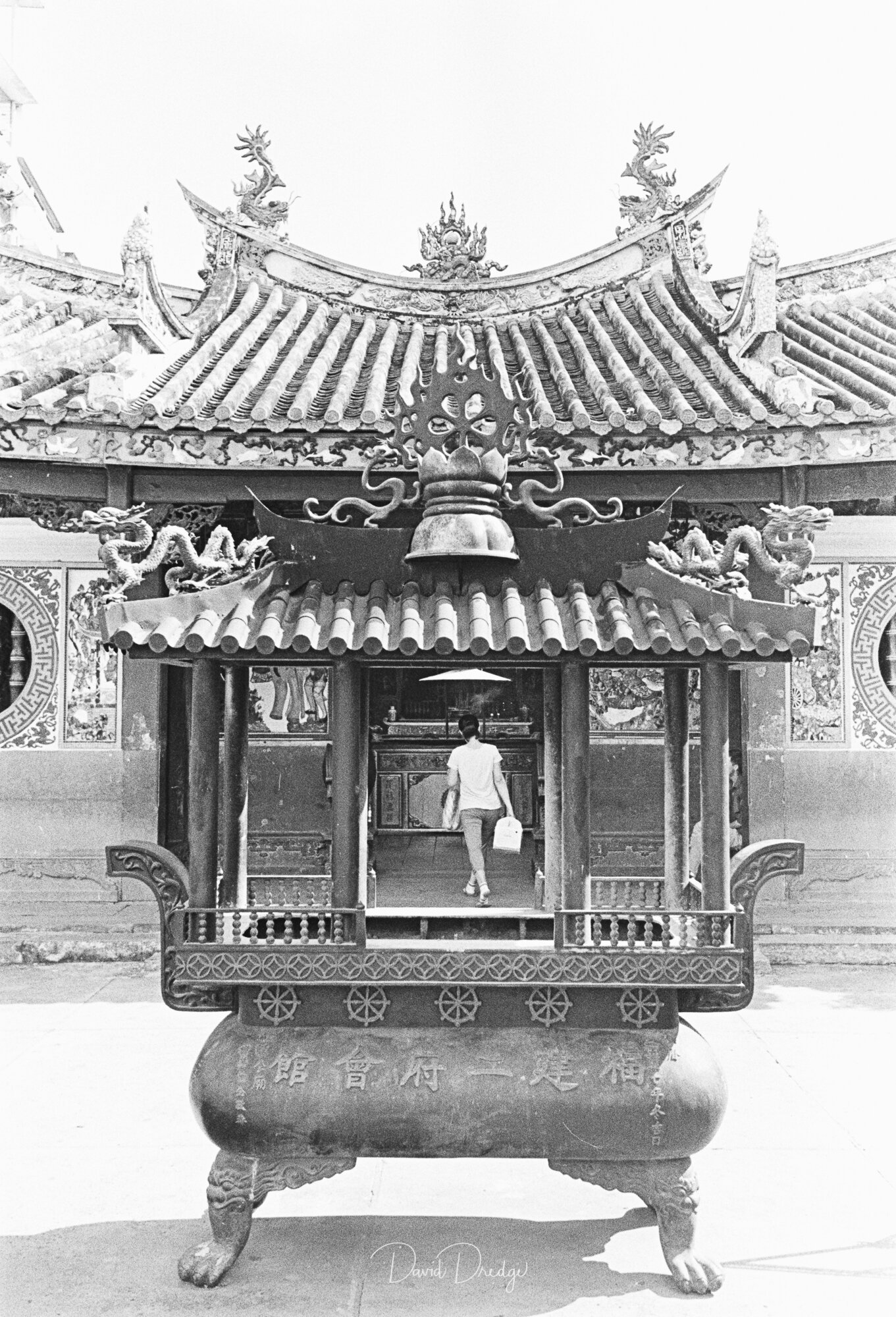 Temple Delivery BW street Photography