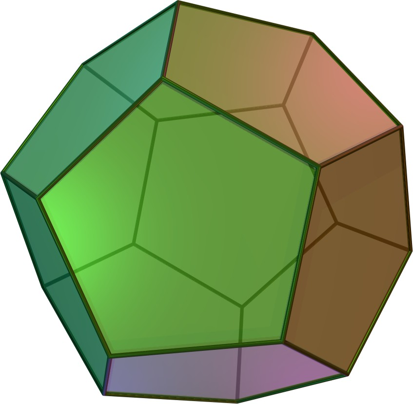 Fold a fauxdecahedron - If you want an easy origami dodecahedron from A4 paper, and don't mind that it's not a perfect dodecahedron, then follow our instructions for folding a fauxdecahedron. Each side is not quite a perfect pentagon, but it's very close!(With thanks to David Brill for allowing us to use his origami instructions. Check out his book and website Brilliant Origami.)