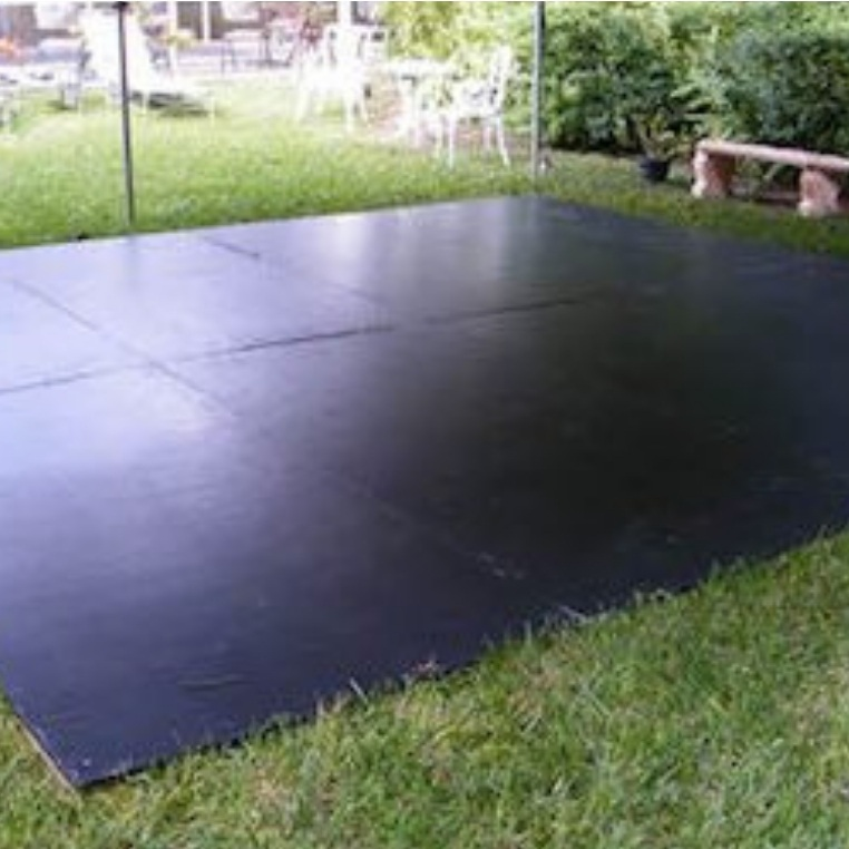 Black Outdoor Dance Floor
