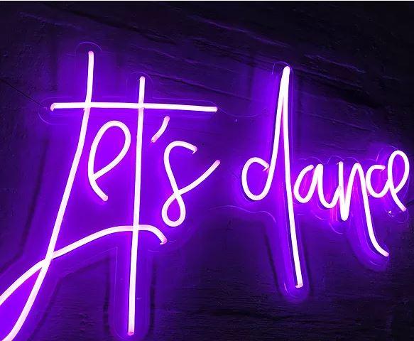 """""""Let's Dance"""" Neon Sign"""
