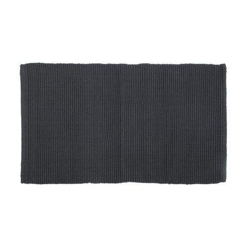 Charcoal Ribbed Floor Rug
