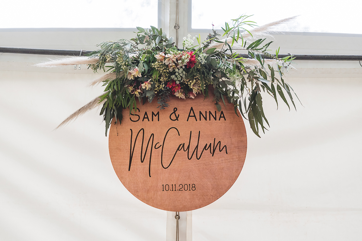 Warrnambool Wedding Styling - Florals and Signage