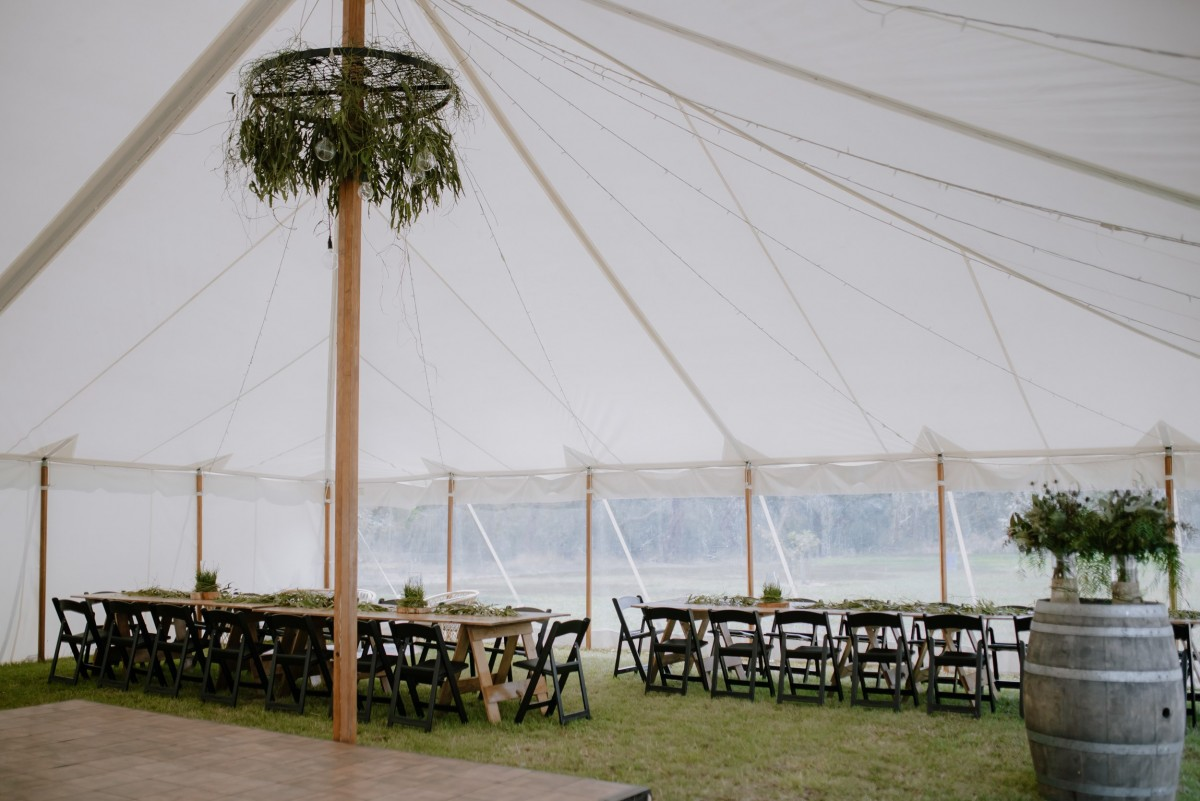 Boho wedding marquee