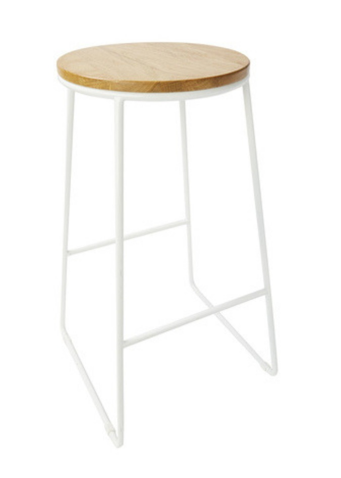 Industrial Stool - White