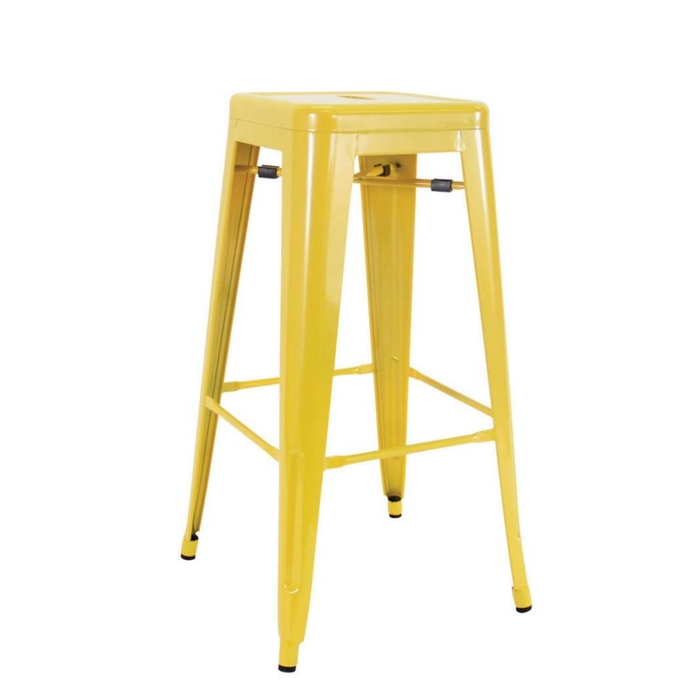 Tolix Stool - Yellow