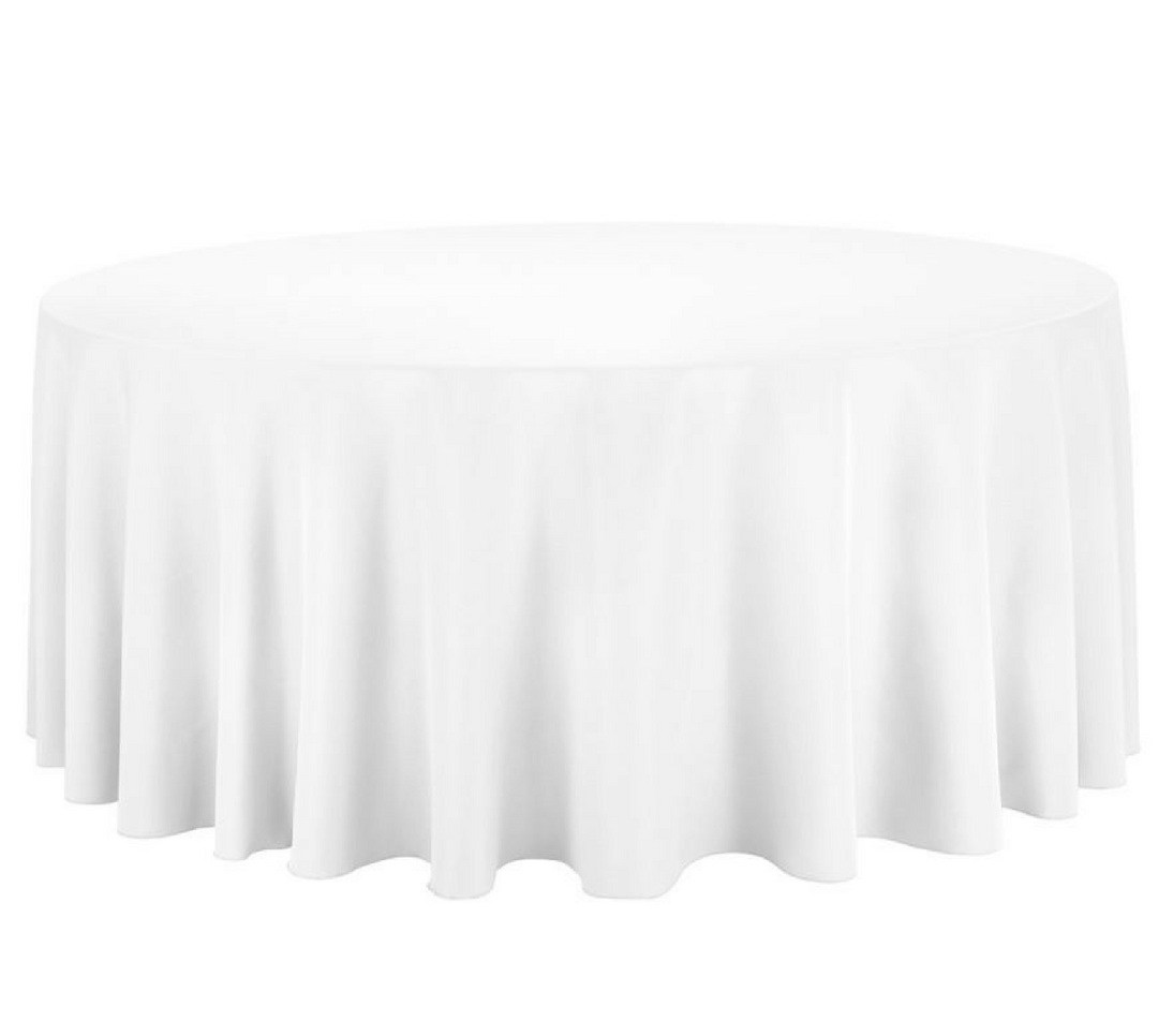 White round tablecloth