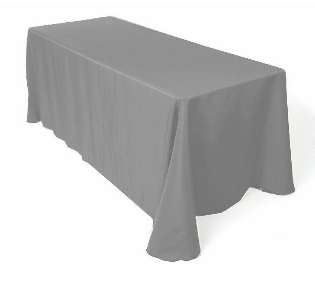 Dark grey buffet tablecloth
