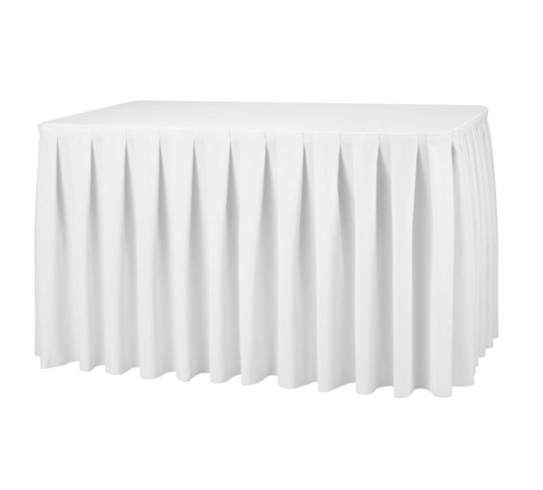 White table skirting