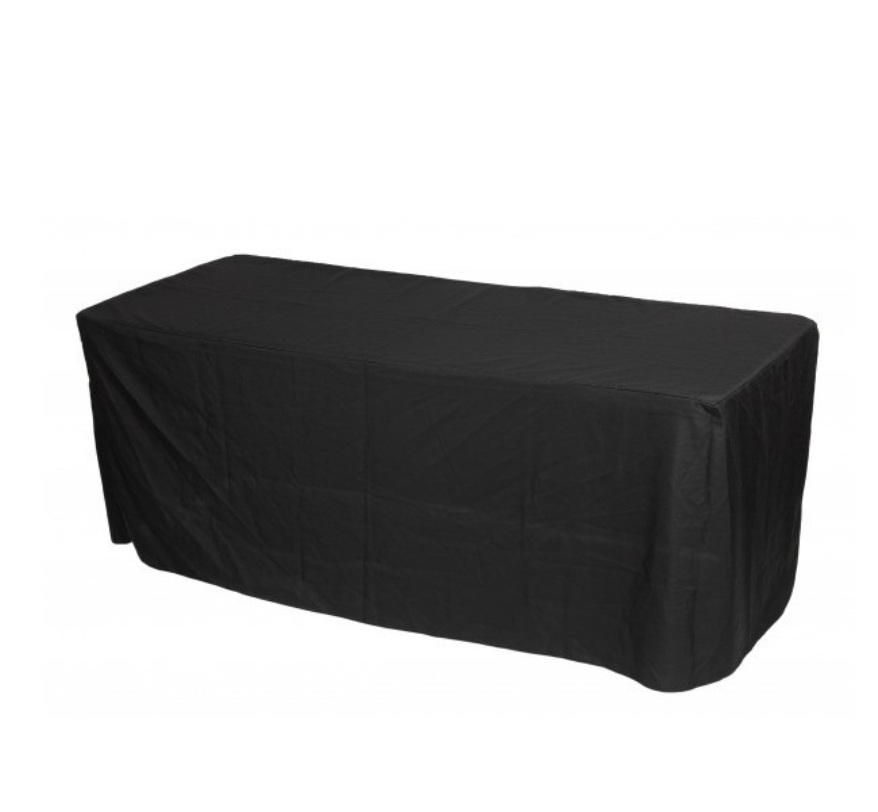 Black fitted trestle cloth