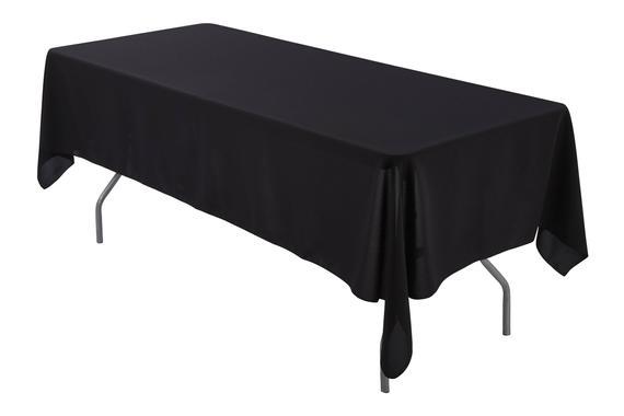 Black trestle tablecloth