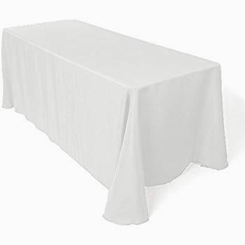 Light grey buffet tablecloth