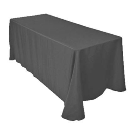 Charcoal buffet tablecloth