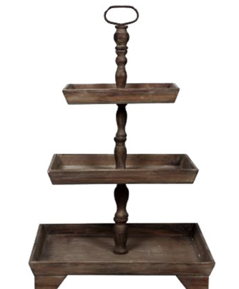 Rectangle 3 tier stand
