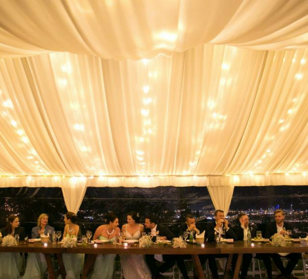 Fairy lights / Fabric ceiling draping