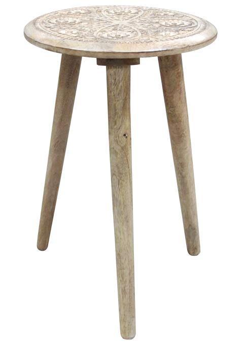 Boho tripod side table