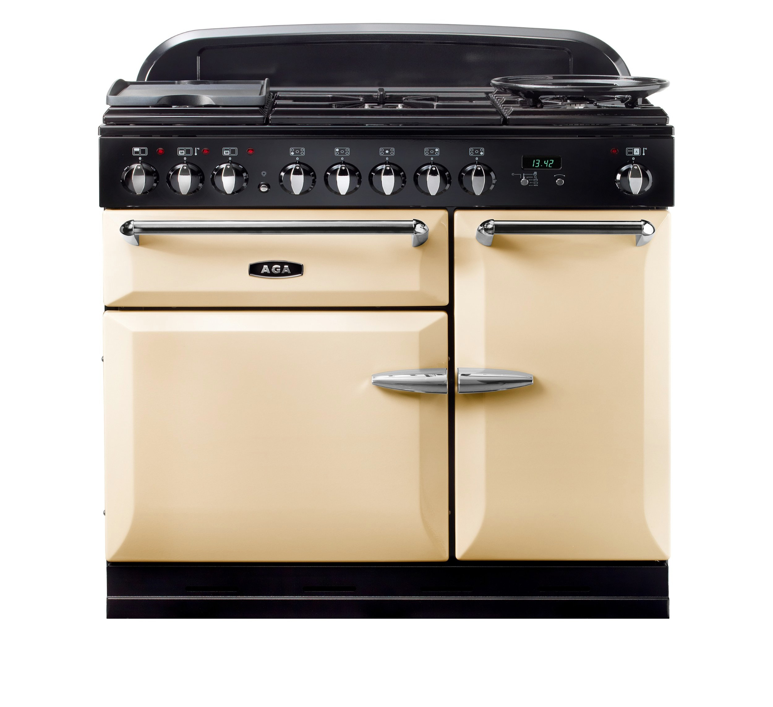Masterchef XL 90 Dual Fuel In Cream For £2575.00 Including VAT & Delivery* - *Delivery/Connection within our area of operation, additional £150.00 off if just collection from our Warehouse.1 year part warranty.