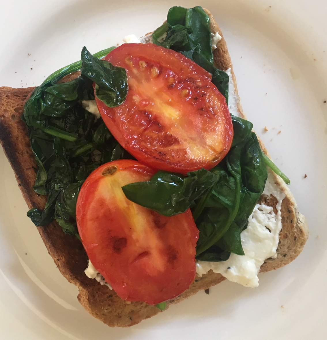 Pan seared tomatoes on toast.JPG