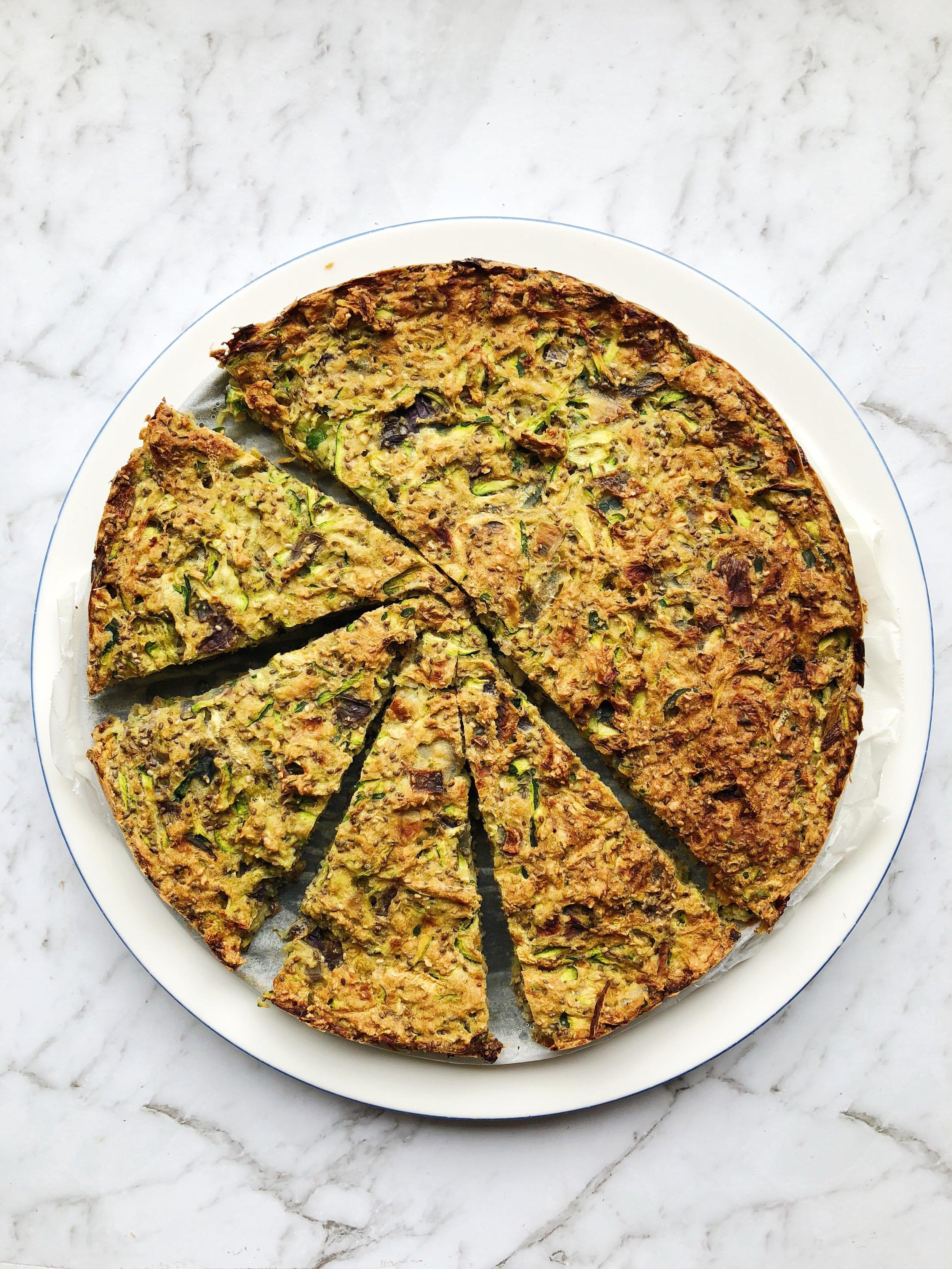 vegan zucchini slice