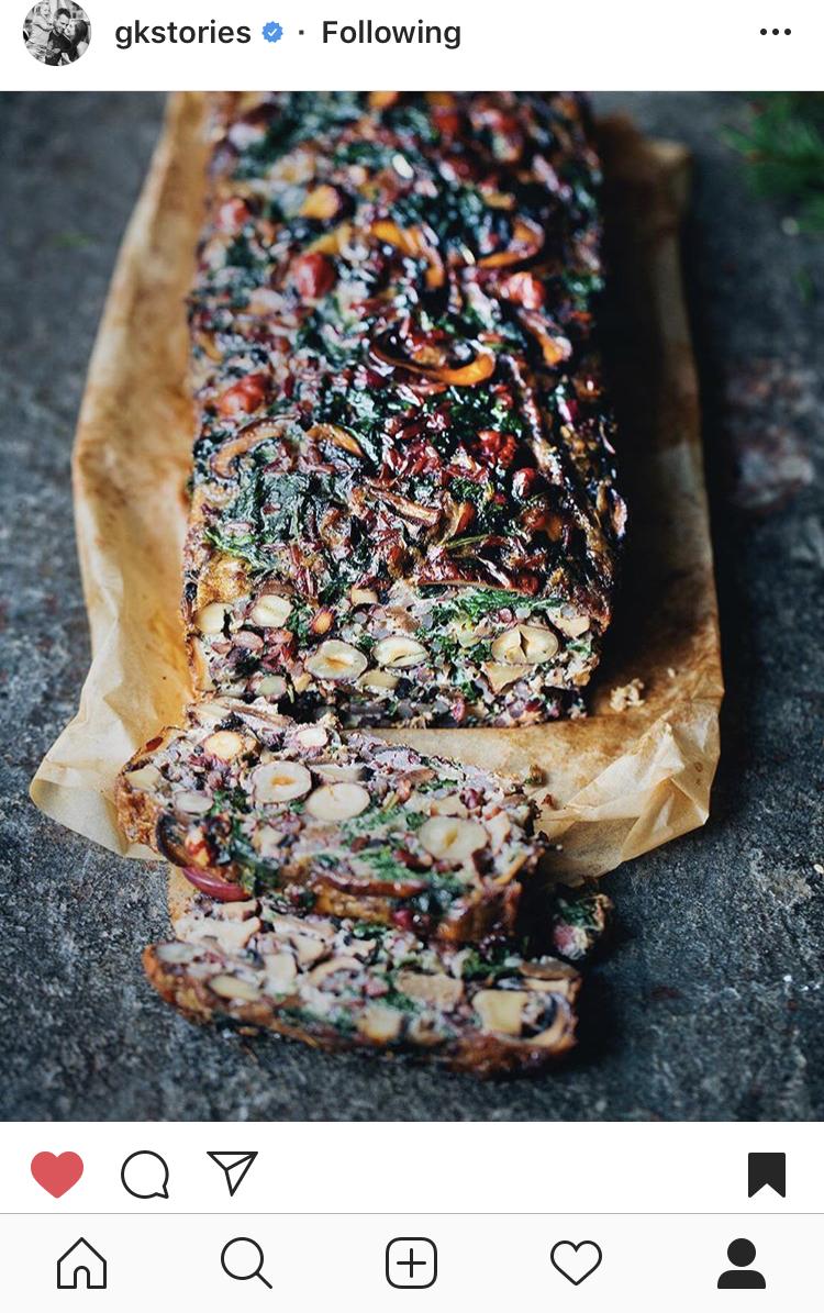 Mushroom, Rice & Hazelnut Loaf from Gkstories