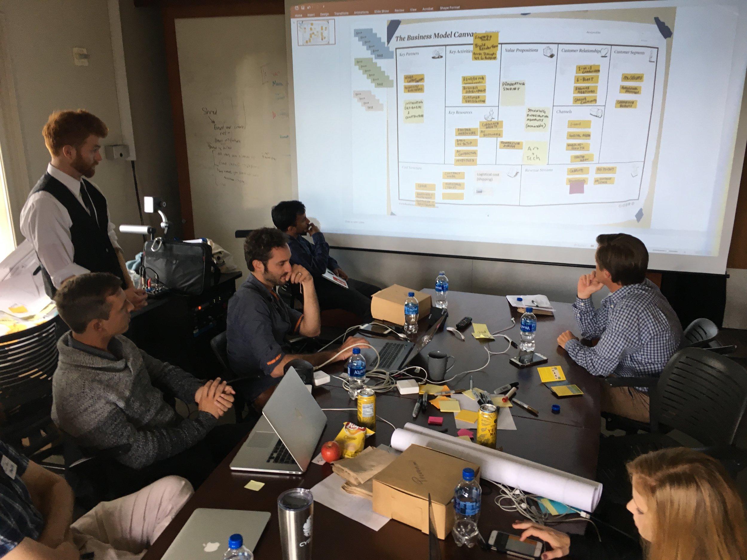 DAY 11:Talking to Investors - Silicon ValleyInvesting and business model critique from Greg Mertz (Lead Advisor, Technology Initiatives, Warner Bros Records; Co-PresidentChalkboard Music, Inc.; Mentor, Techstars), Josh Burwick (Tech Investor/Advisor/CFO), Matt Sandler (Startup Business Development, Amazon; Entrepreneur in Residence - Music, Techstars) andPascal Pilon (CEO, LANDR)