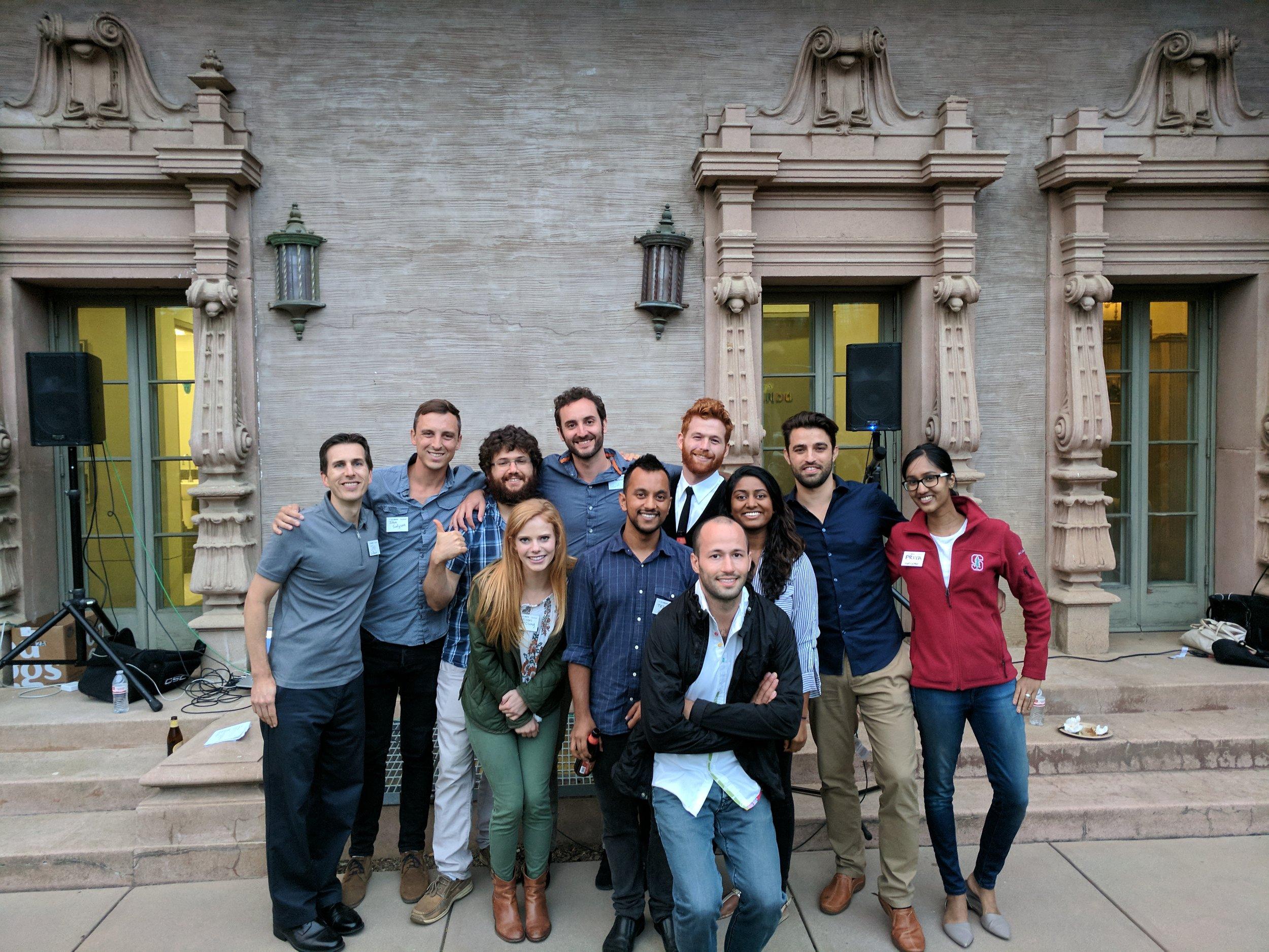 The Real Startup class: (back row from left) Jay LeBoeuf (staff), John Snelgrove, Yuval Adler, David Abrams, Matthew McIntyre, Wisam Reid, Priyanka Shekar (staff), (front row from left) Madison McClung, Tejaswi Gorti, Itamar Orr, Eesha Choudhari (TA)