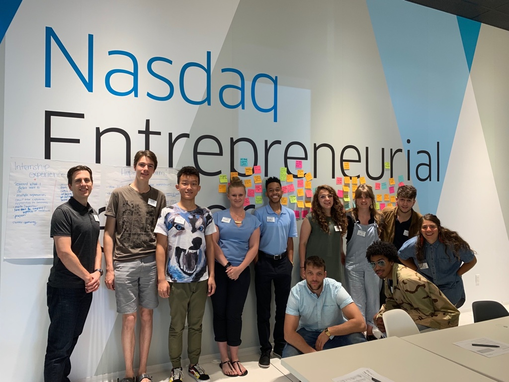 Day 2 - Avid and Nasdaq Entrepreneurial CenterMilestones Makers Program; Masterclass on Avid's Path and Mentor Q&A with Ed Gray; Happy Hour Wrap