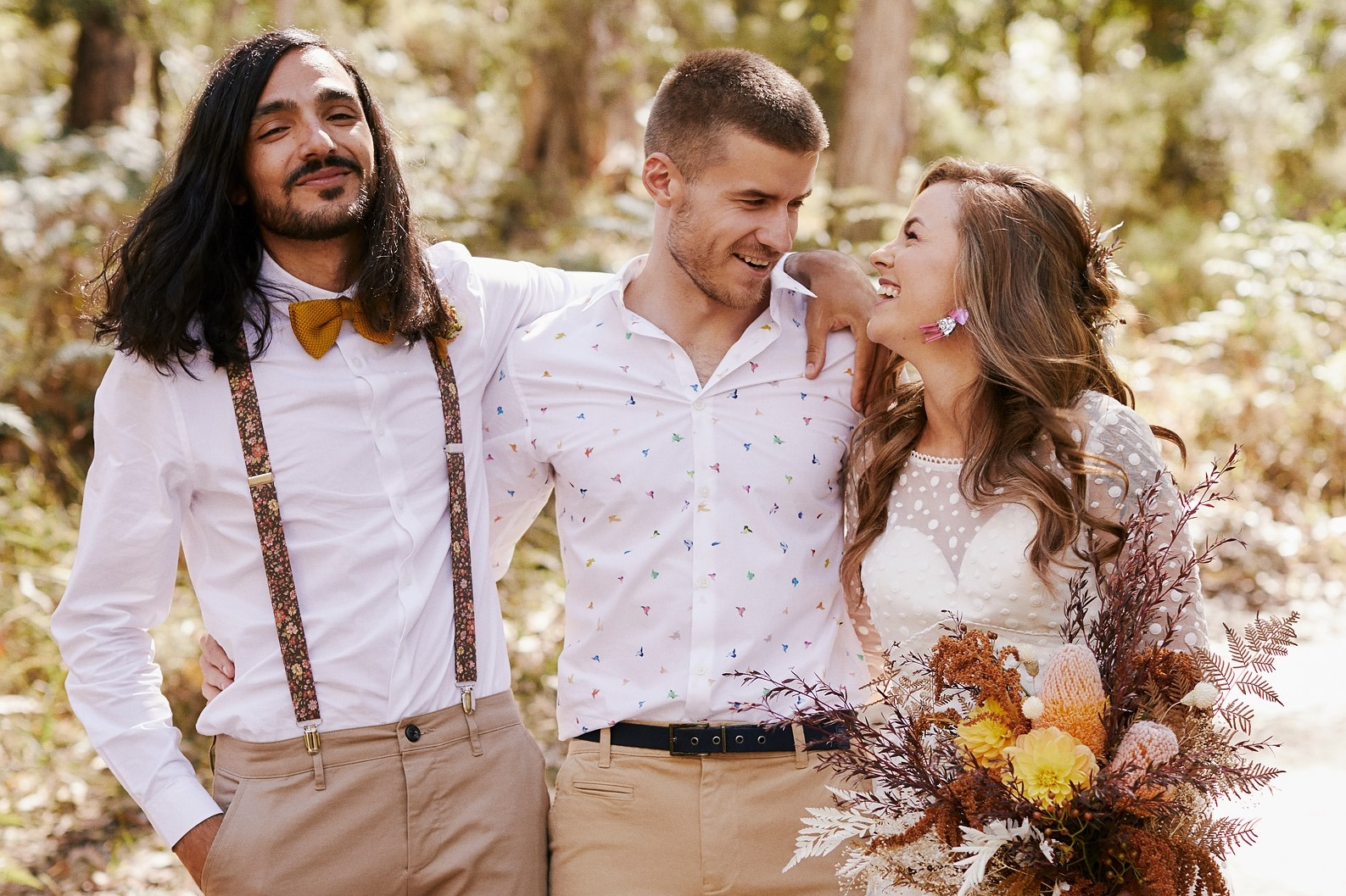 A BIT ABOUT ME - 👈 That's me, my sister and her new husband, moments after I married THE HECK out of them in February, 2019.But that's not how this incredible gig began. It began in early 2017 with a random phone call from mum in country NSW, who suggested that I become a celebrant. I had so many other things going on at the time, so I politely thanked mum for her 'crazy idea' which as it turns out, wasn't so crazy after all! And to this day, mum still asks for a commission. 🙄So after 18 months of hustling in the name of love, I've married 116 awesome people. And now, I'm a full time marriage celebrant which is honestly THE BEST gig in the world! And I know this because every time someone asks me what I do for a crust, I smile like an idiot :-)Yeah, so this 'job' is kind of addictive…