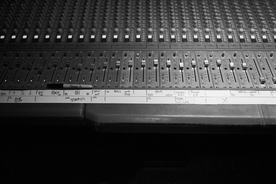 """The main mixing desk at Sputnik Sound studio in East Nashville where David recorded """"Fire This Love"""" [Photo Credit: Price Harrison]"""